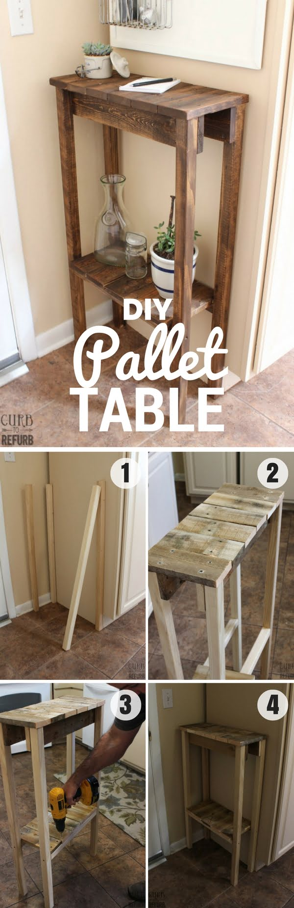 Check out how to build this easy DIY Pallet Table