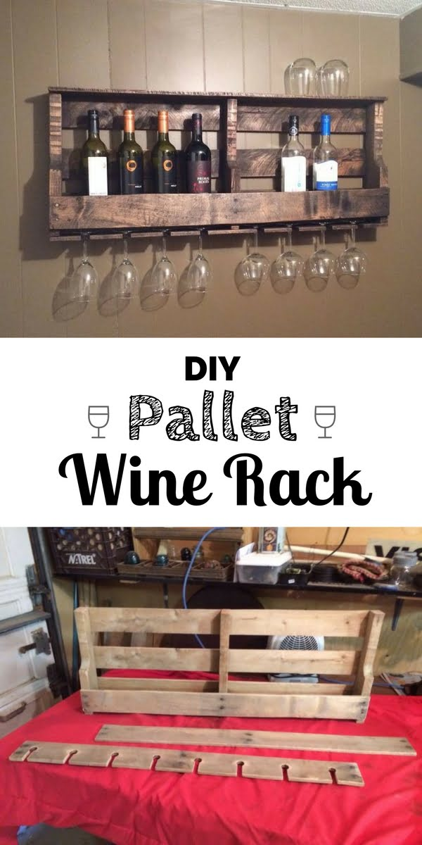 Build an easy DIY pallet wine rack for rustic home decor