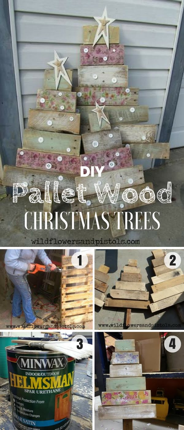 Check out how to build these easy DIY Pallet Wood Christmas Tree