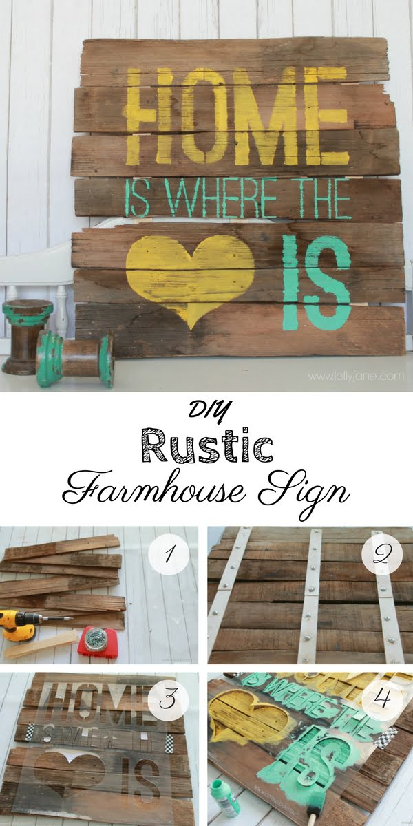 17 Fab DIY Farmhouse Signs You Can Make Yourself - Check out how to make an easy DIY Rustic Farmhouse Style Sign
