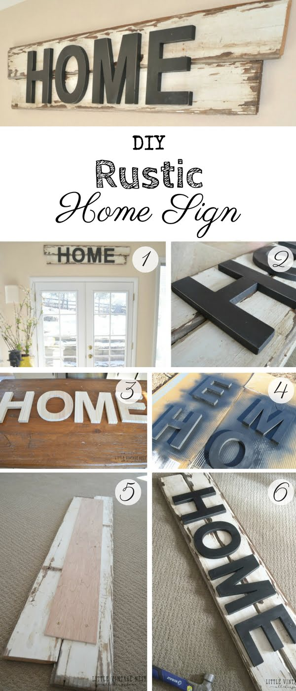 17 Fab DIY Farmhouse Signs You Can Make Yourself - Check out how to make an easy DIY Rustic Home Sign