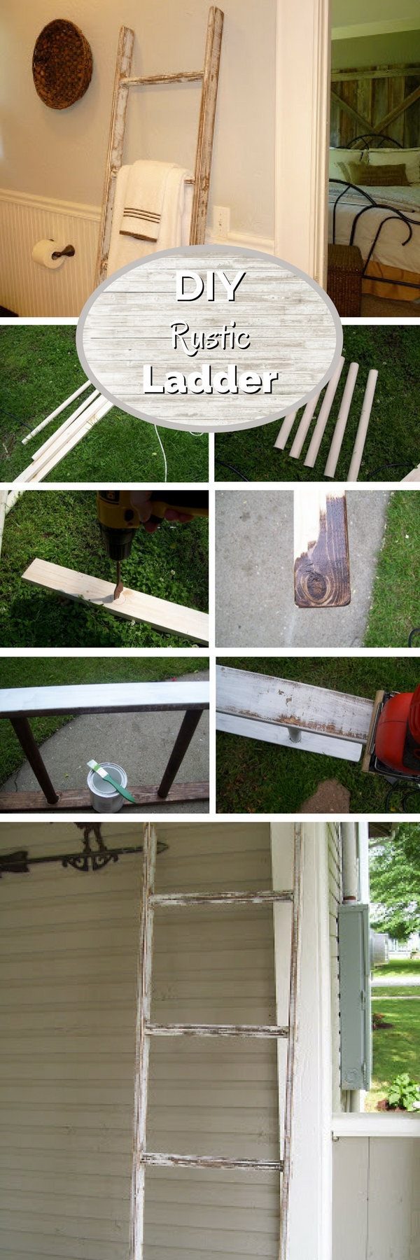 #DIY Rustic Ladder #bathroomdecor