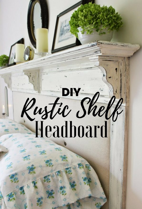 DIY Headboards with a shelf