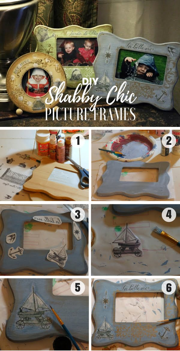 Check out how to make easy DIY Shabby Chic Picture Frames