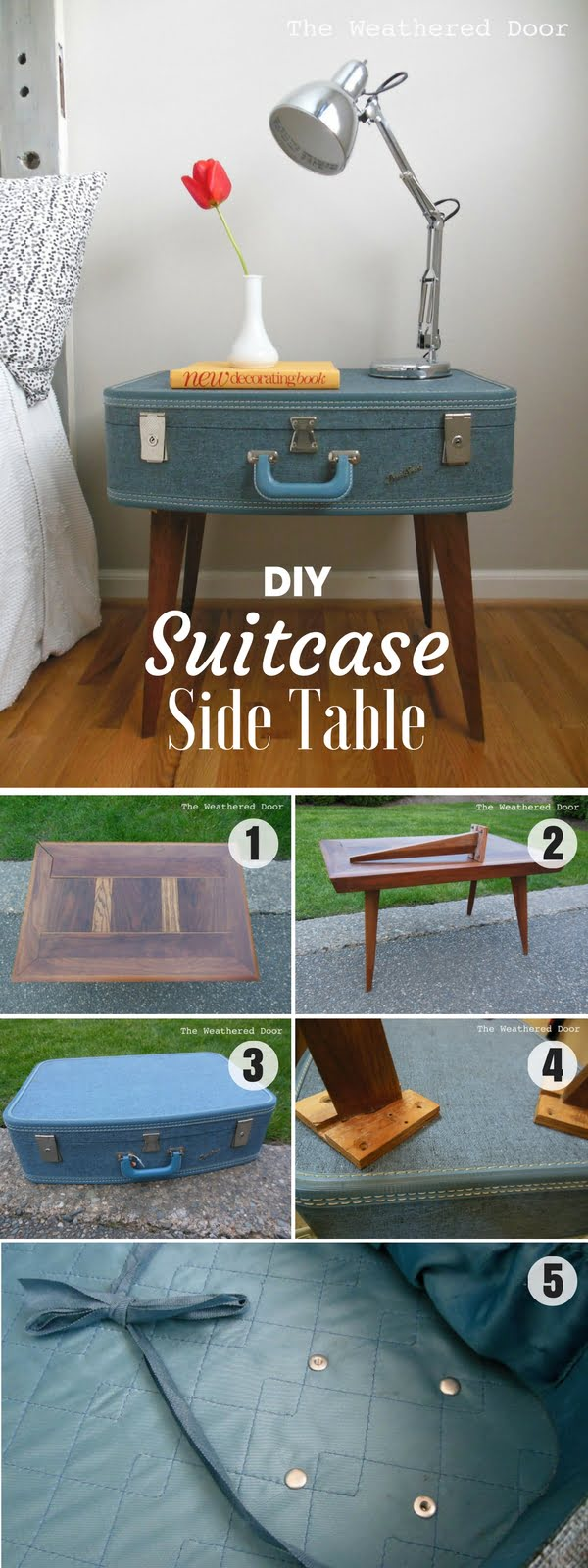 16 Beautiful DIY Bedroom Decor Ideas That Will Inspire You - Check out how to make an easy DIY Suitcase Side Table for bedroom decor
