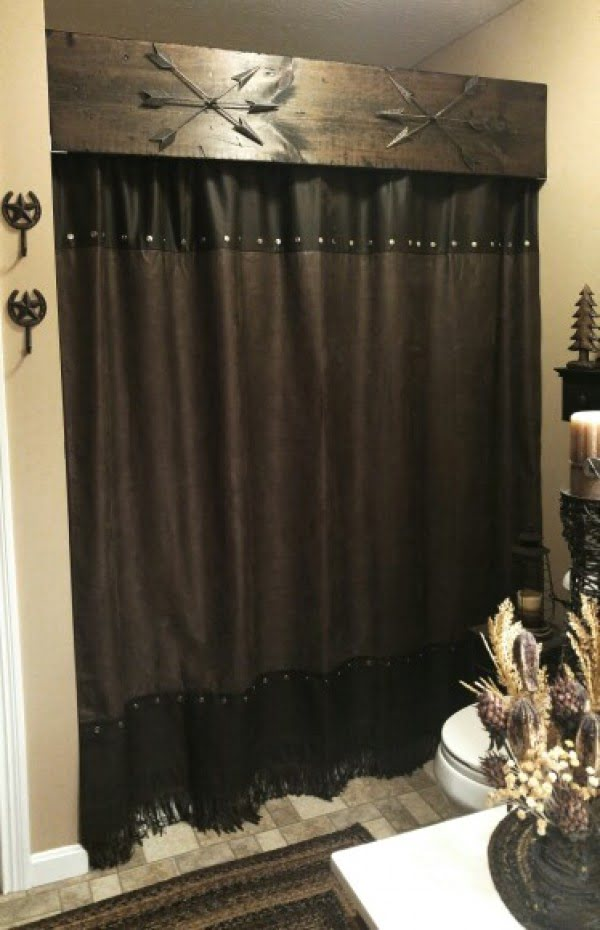 Rustic  bathroom decor shower curtains