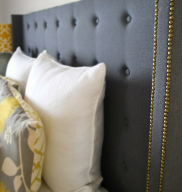 tufted DIY headboard