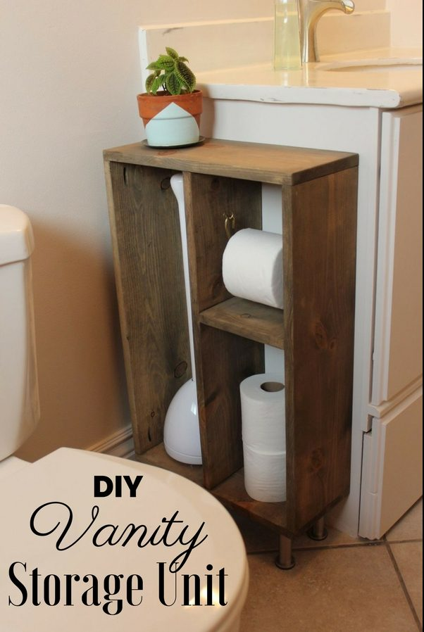 Vanity Storage Unit for rustic bathroom decor