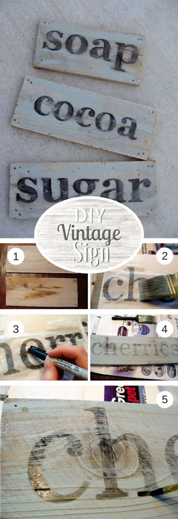 17 Fab DIY Farmhouse Signs You Can Make Yourself - Check out how to make an easy DIY vintage sign