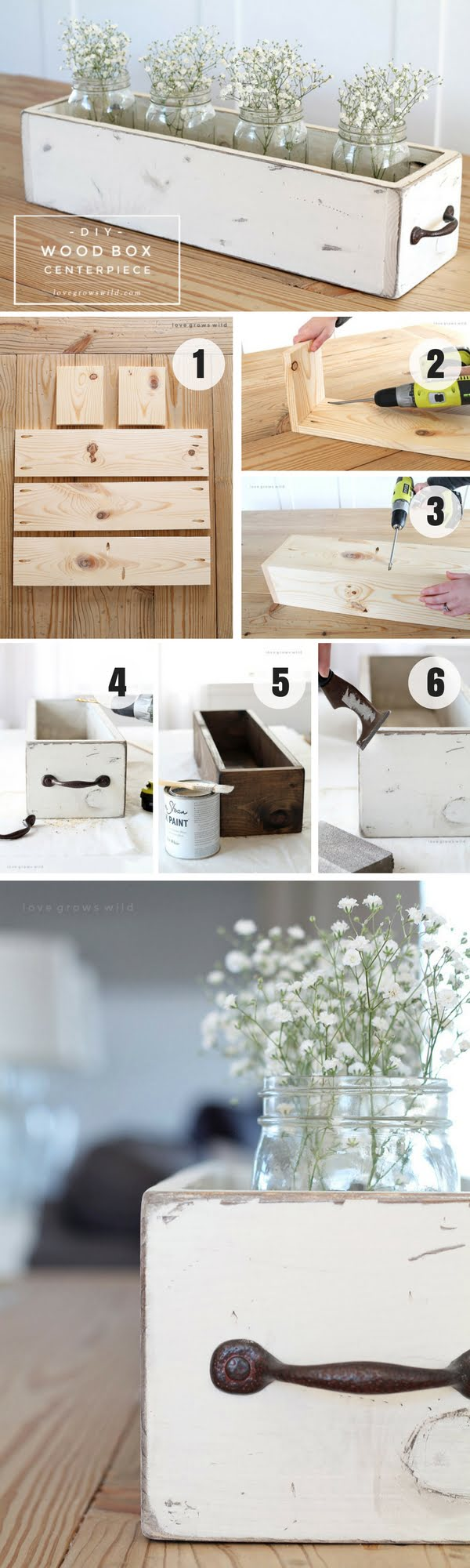 Check out how to build an easy DIY Wood Box Centerpiece