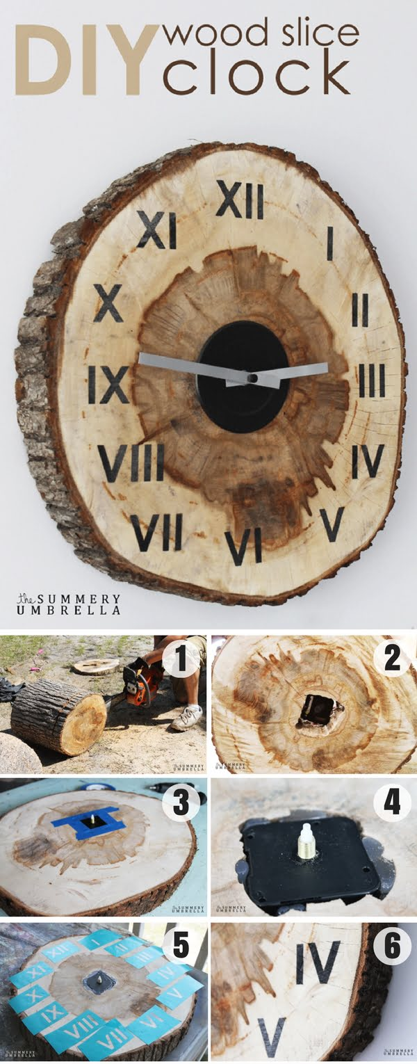 Check out how to make an easy DIY Wood Slice Clock