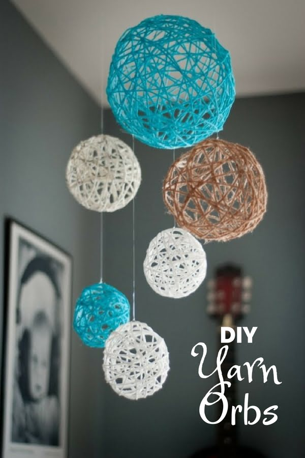 16 Beautiful DIY Bedroom Decor Ideas That Will Inspire You - Check out how to make easy DIY Yarn Orbs for bedroom decor