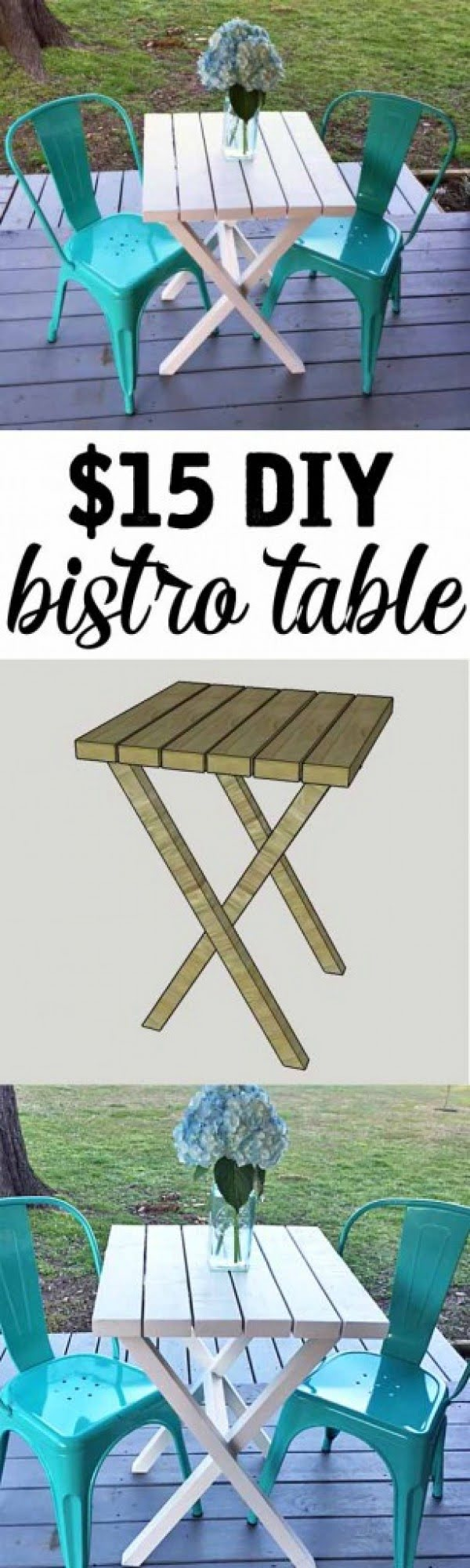 Make this easy DIY bistro table for under $15