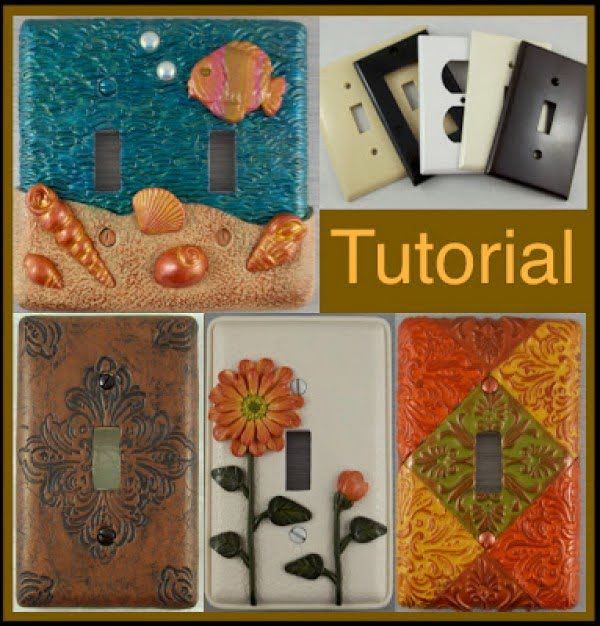 Check out how to make DIY decorative polymer clay light switch plates