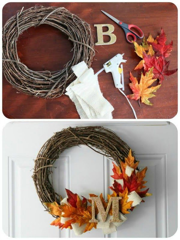 Love the DIY Thanksgiving wreath