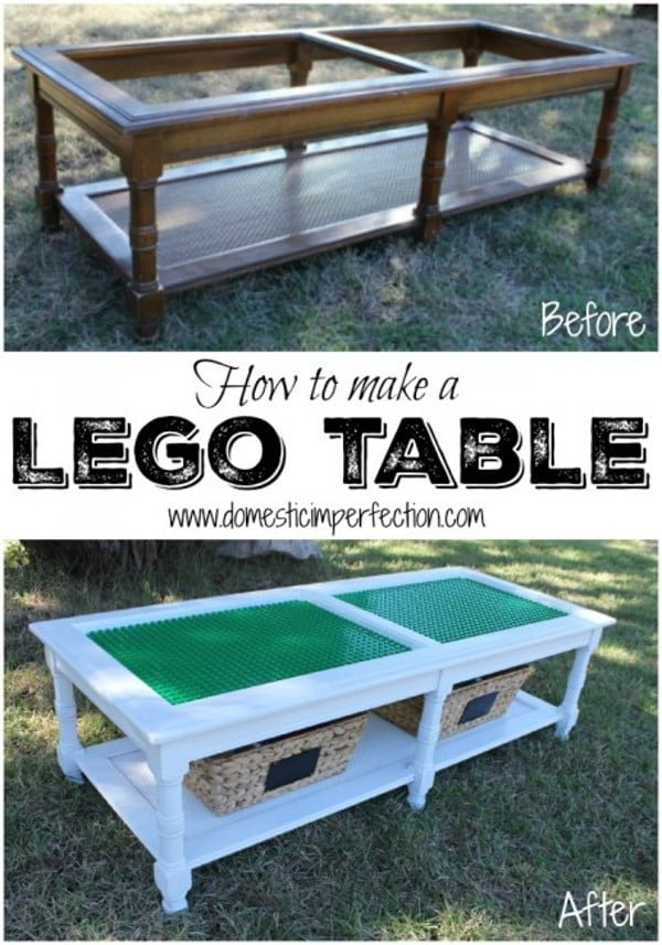 Make an easy DIY Lego table