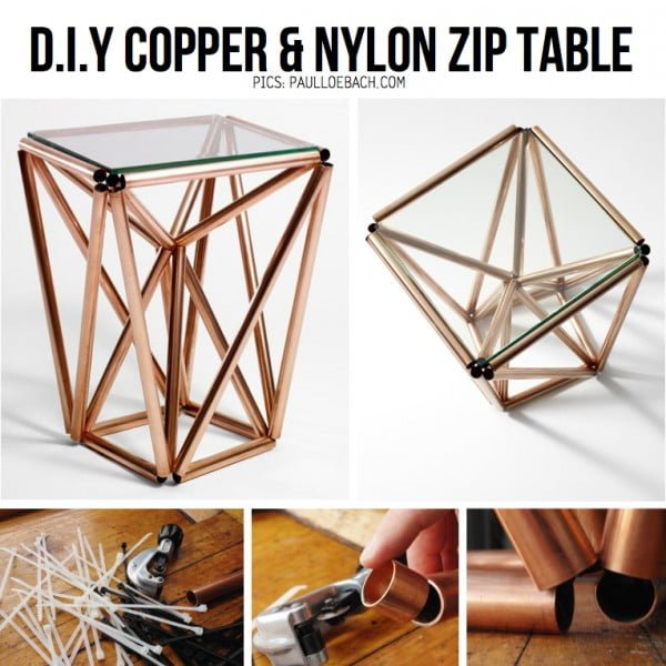 Love the idea for a DIY Copper Pipe Table