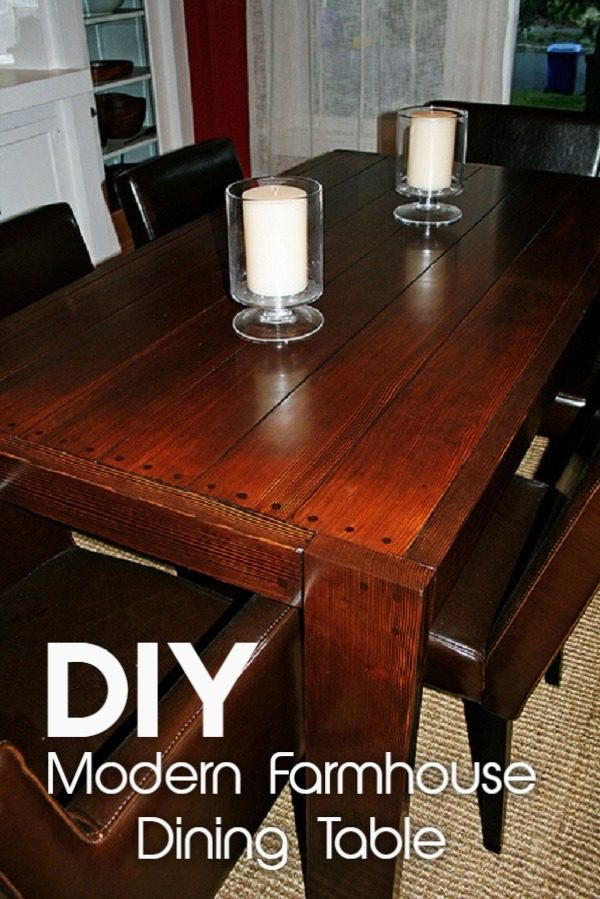 Check out the tutorial on how to make a #DIY modern #farmhouse table. Looks easy enough! #HomeDecorIdeas