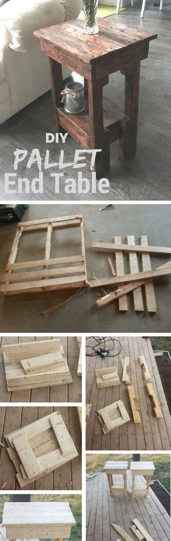 Make this easy DIY end table from pallet wood