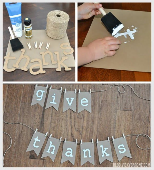 Check out how to make an easy DIY Thanksgiving garland