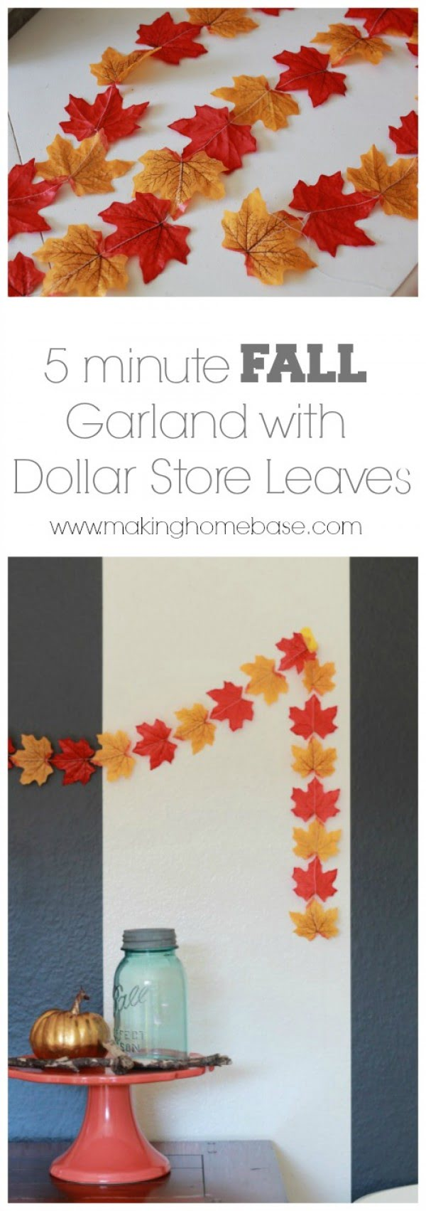 Make easy DIY fall leave garlands for Thanksgiving decor