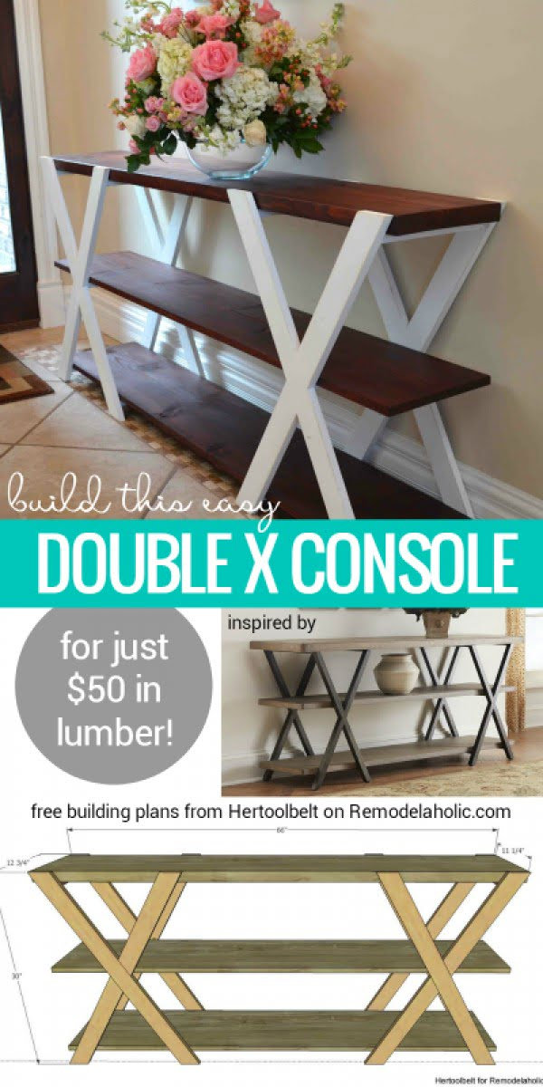 Easy to make DIY double X console with tutorial