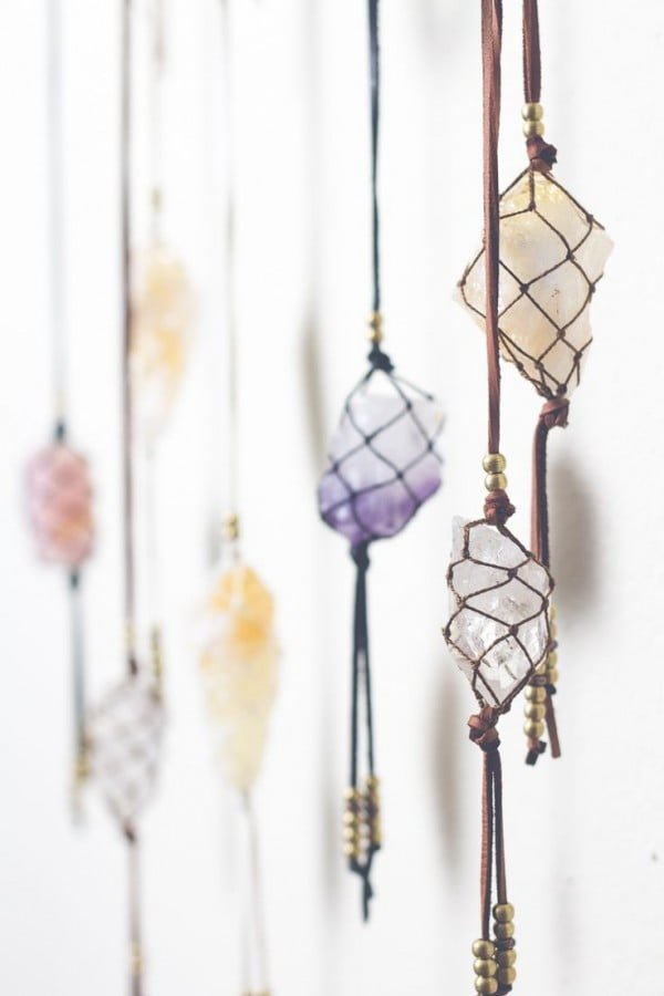 Amazing home decor with healing crystals DIY wall hangings