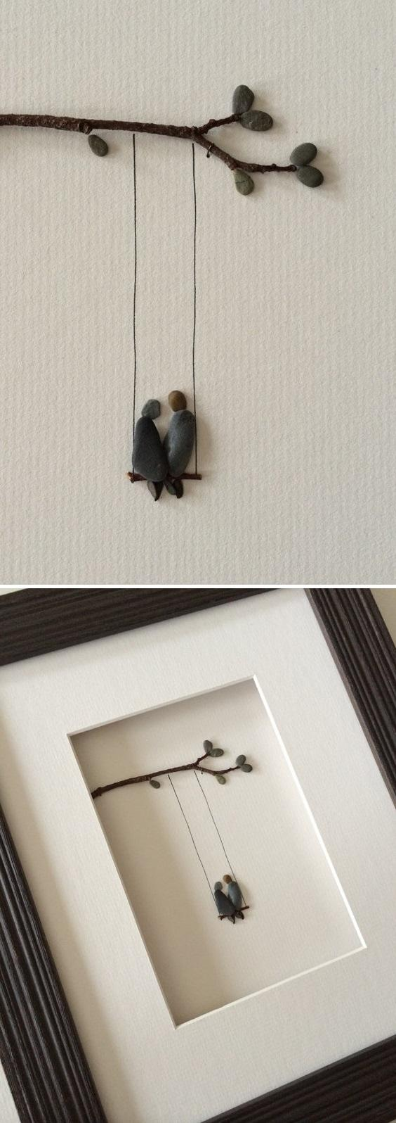 Love the idea for DIY Pebble Art
