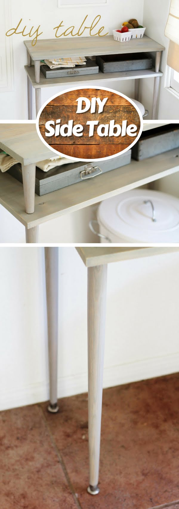 Check out how to build a DIY side table