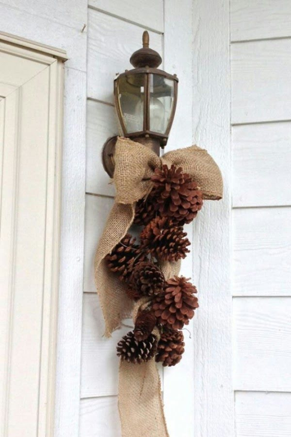 Love the porch decor idea for Thanksgiving