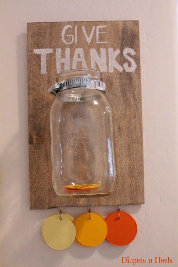 "Love the idea for a ""Thank You"" jar! DIY"