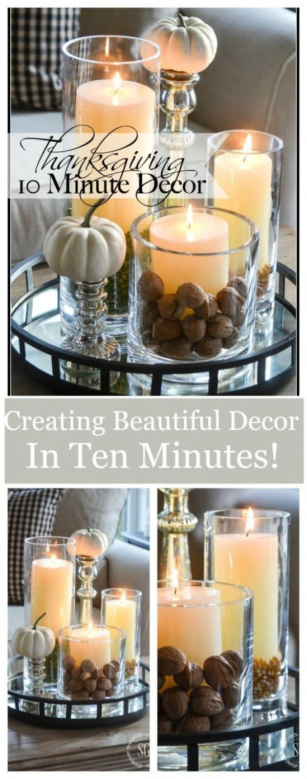 Thanksgiving decor ideas in 10 minutes!