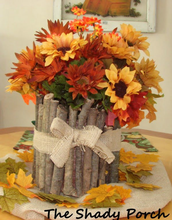 Make an easy DIY rustic centerpiece for Thanksgiving decor