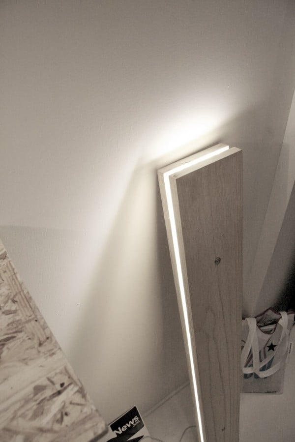 Love the idea for a DIY lamp from wood boards @istandarddesign