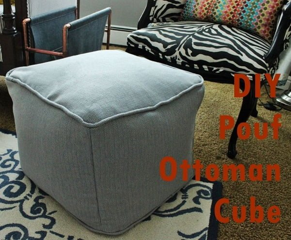 Pouf Ottoman Cube, if you want to make an easy but nice home project! ideas