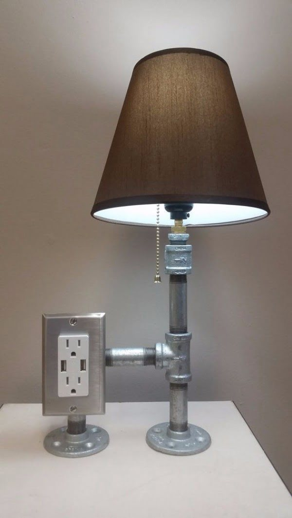 Check out this cool steel pipe desk lamp