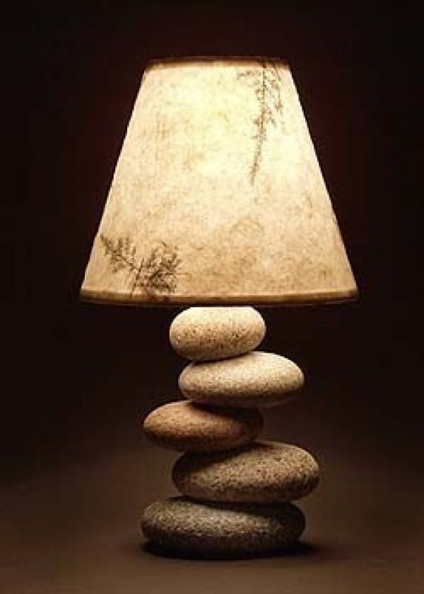 Check out this adorable balance rock lamp