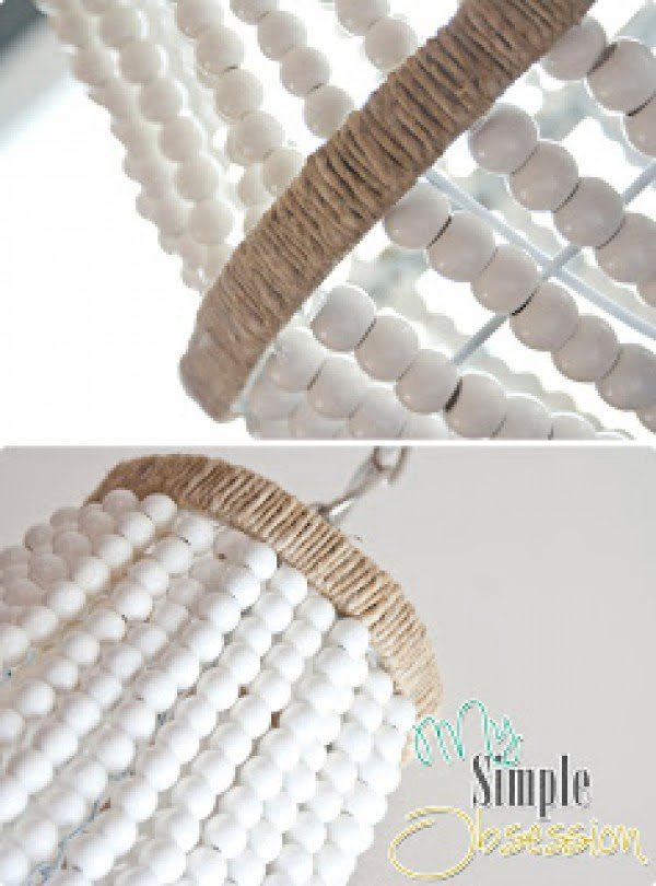 Check out how to make this adorable DIY beaded chandelier