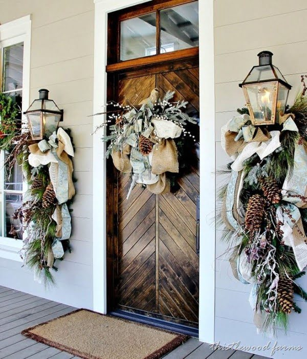 Stunning front porch Christmas decor