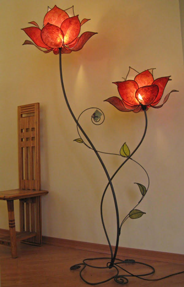 Check out this adorable flower floor lamp