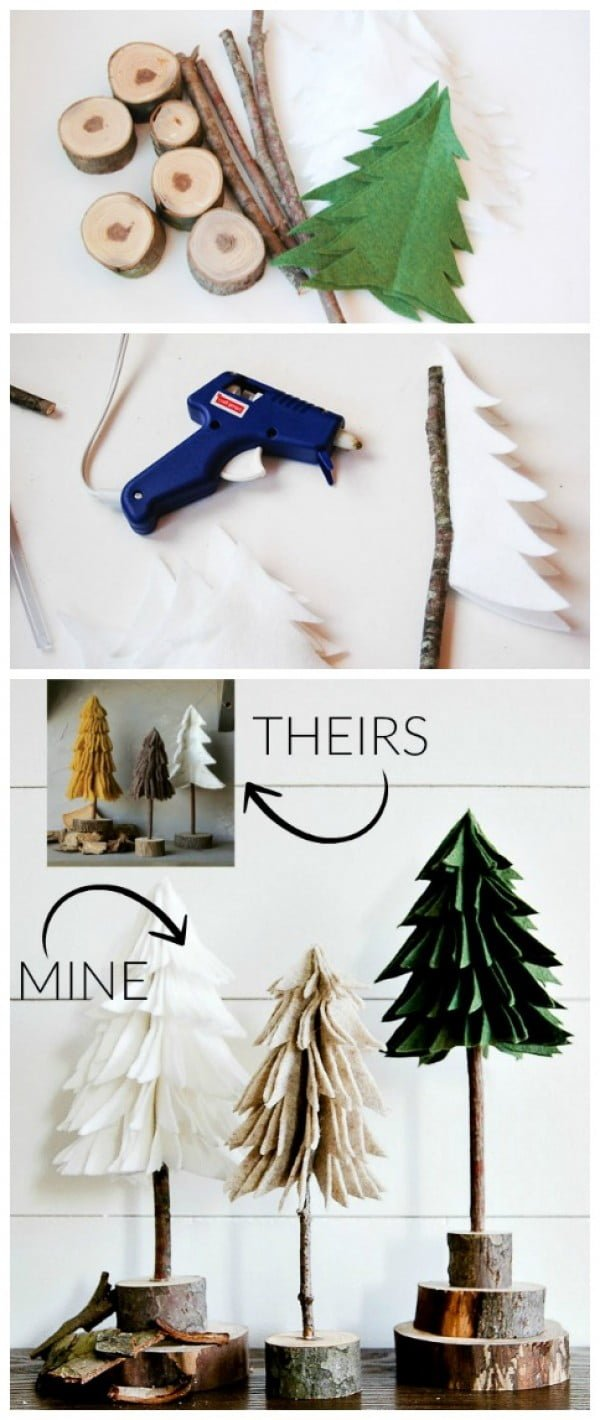 Make these adorable DIY felt Christmas trees
