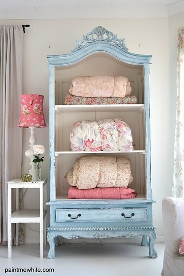 Love the shabby chic armoire makeover