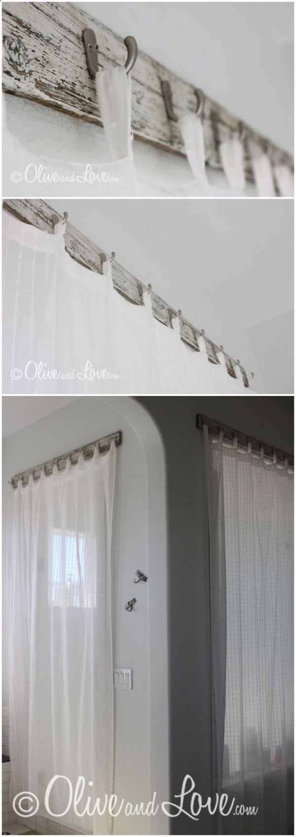 Love the idea for shabby chic curtain hooks