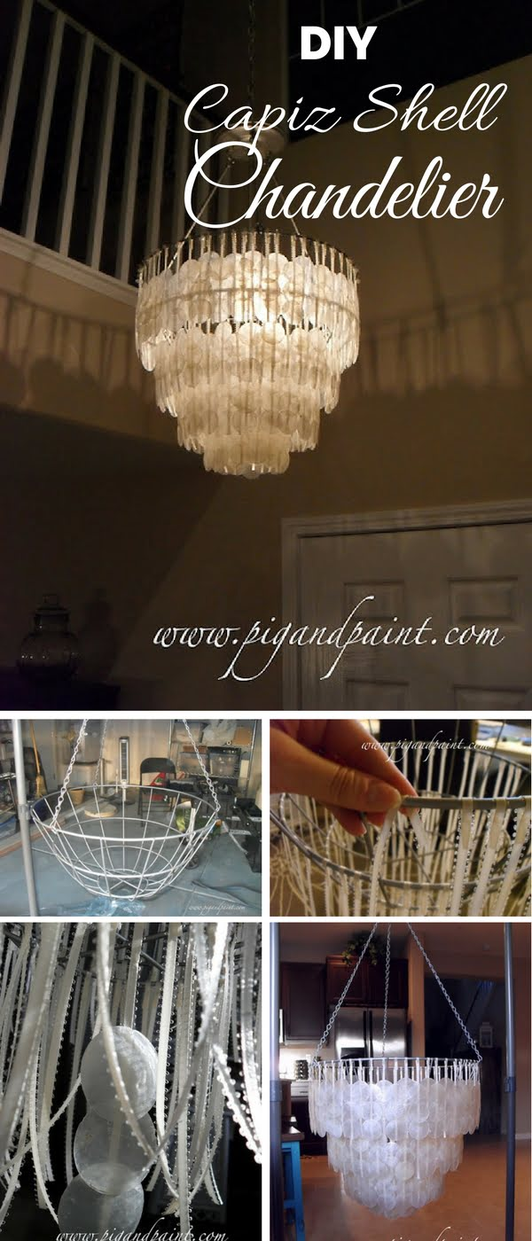 Check out how to make an easy DIY capiz shell chandelier