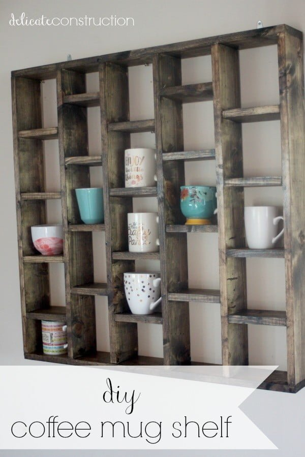 13 Brilliant DIY Mug Racks You'll Have Fun Making - Check out how to make a DIY mug display shelf