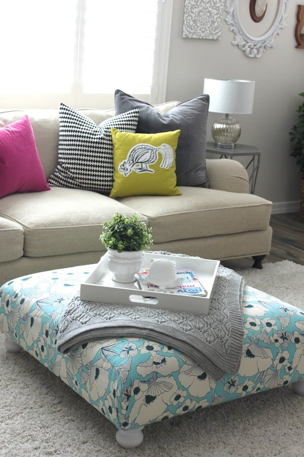 #DIY IKEA Hack Ottoman - a lovely addition to your home that you can easily make! #homedecorideas