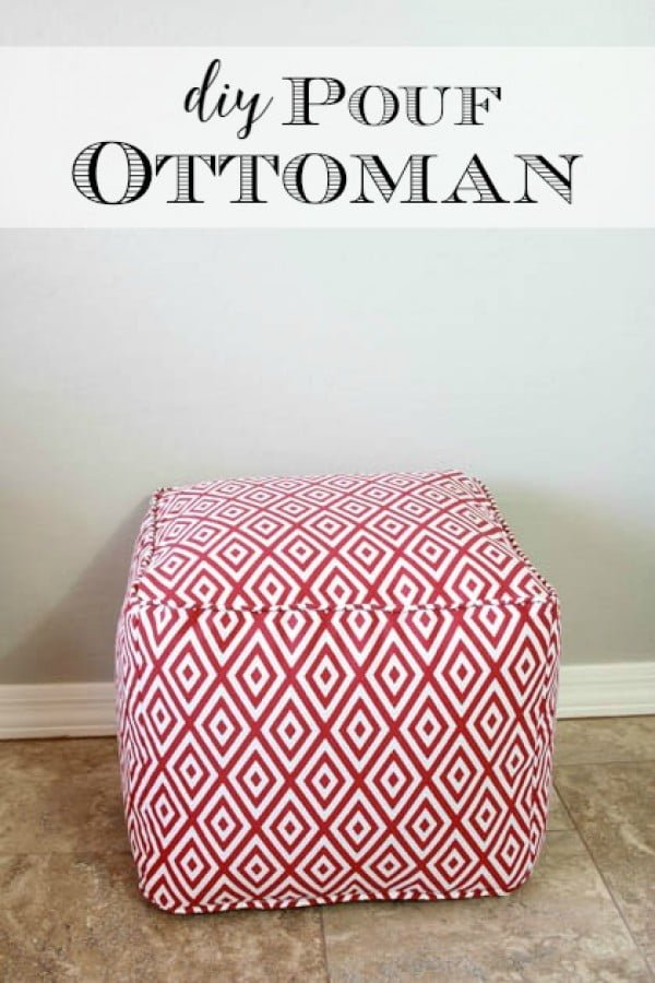 Check out how to make an easy DIY pouf ottoman