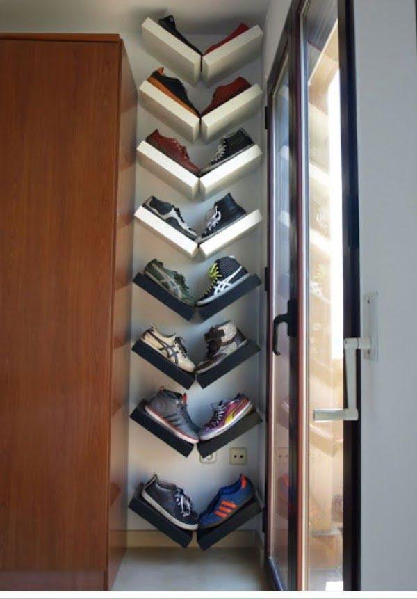 60+ Easy DIY Shoe Rack Ideas You Can Build on a Budget - Clever shoe storage shelves for small spaces