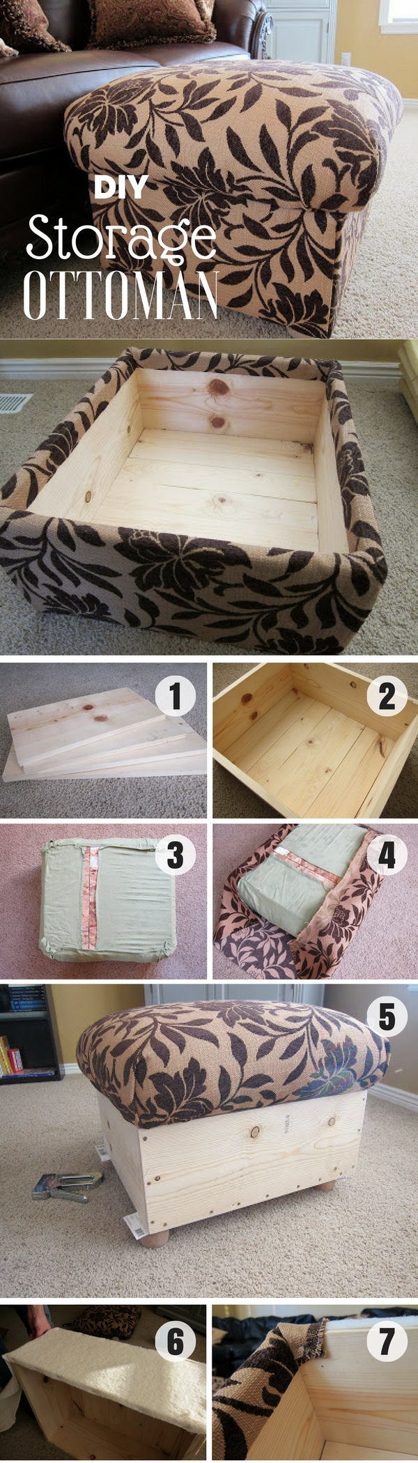 40 Easy DIY Ottoman Ideas You Can Make on a Budget
