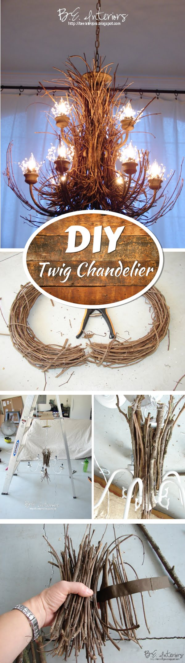 Check out how to make this DIY twig chadelier